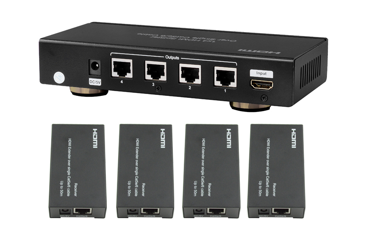 LINK-MI LM-SP19 1*4 HDMI Splitter Over Single Cat5e/6 Cable