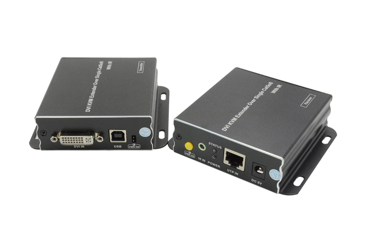 LINK-MI LM-KVM03 DVI KVM Extender Over 100m Single Cat5e/6 with IR Incorporates HDBaseT Technology