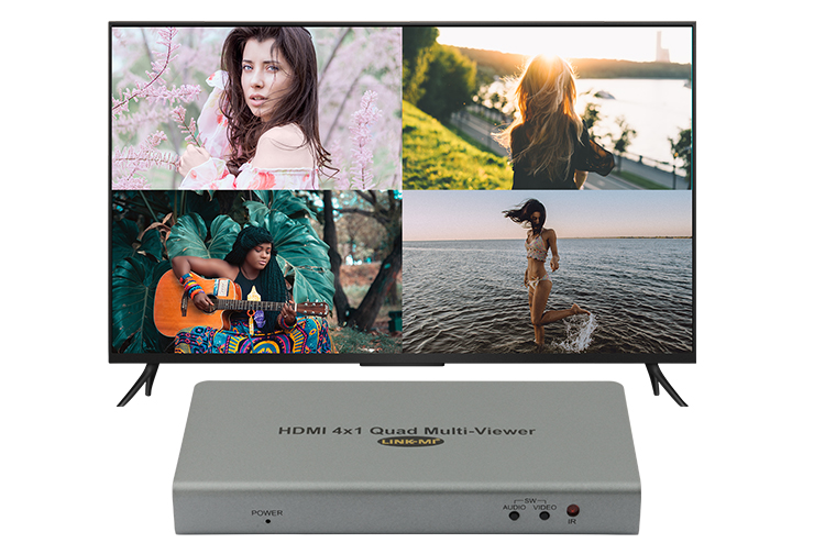 LINK-MI LM-S41F HDMI 4x1 Quad Multi-viewer