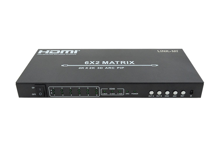 LINK-MI LM-MX62-ARC HDMI 1.4 Matrix 6×2